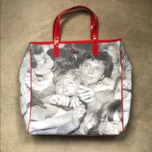 THE BEATLES!  Cute crazed crowd bag